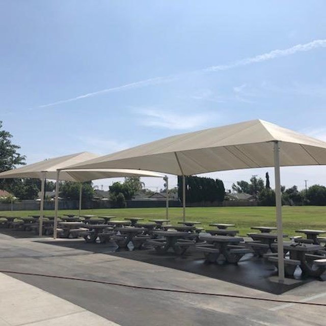 Irvine begins its 2018-19 school year with new shade structures.